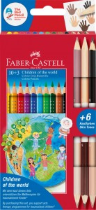 Kredki Faber-Castell Grip 2001 Children of the world 10+3