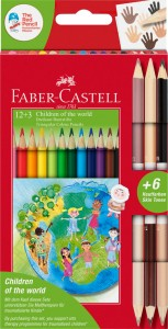 Kredki Faber-Castell Children of the world 12+3